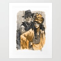 Poet and Muse Art Print