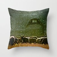 Sheep. Throw Pillow