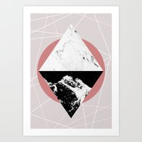 Art Prints featuring Geometric Textures 3 by Mareike Böhmer Graphics