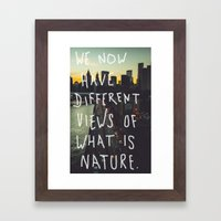 Different Views Framed Art Print
