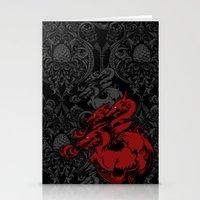 Dragon Damask Stationery Cards