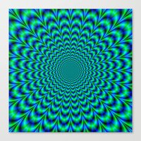 Pulse in Blue and Green Canvas Print