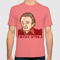 !kcor s'teL (Man From Another Place Pixel Art) Mens Fitted Tee Pomegranate SMALL