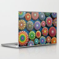 Mandala Stone Love Heart Laptop & iPad Skin