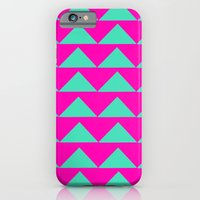 Neon Pink & Aqua iPhone 6 Slim Case