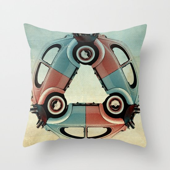 back end triangle - VW beetle Throw Pillow
