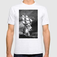 Set Sail Mens Fitted Tee Ash Grey SMALL