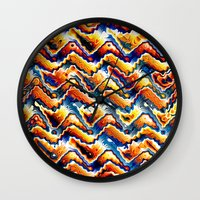 Vibrant Geometric Motif Wall Clock