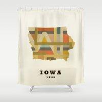 Iowa State Map Modern Shower Curtain