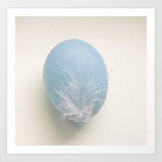 Egg blue Art Print