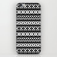 Fair Isle Black & White iPhone & iPod Skin