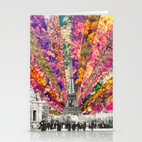 paris Stationery Cards featuring Vintage Paris by Bianca Green