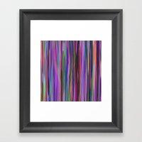 Swimming Stripes, Purple Framed Art Print