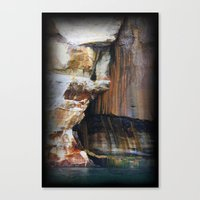 Rocky Crevices Canvas Print
