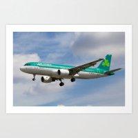 Aer Lingus Airbus A320 Art Print