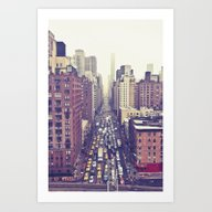 Art Print featuring Flying Over First... (co… by Chernobylbob
