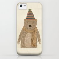 iPhone 5c Cases featuring mr grizzly bear  by bri.buckley