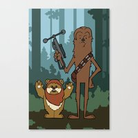 EP6 : Chewbacca & Widdle Canvas Print