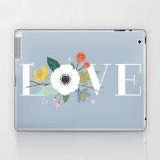 Floral Love - in Dusty Blue Laptop & iPad Skin