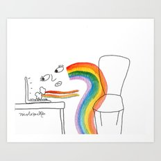 Rainbow Girl Art Print
