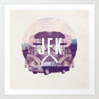 JFK Art Print