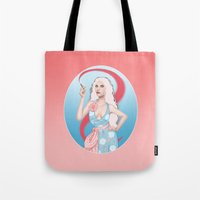 Lipstick Swirl Tote Bag