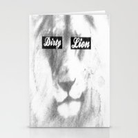 Dirty Lion Stationery Cards