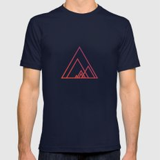 Geometry Mens Fitted Tee Navy SMALL