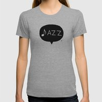 Jazz Womens Fitted Tee Athletic Grey SMALL