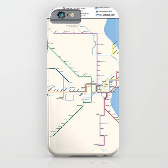 Milwaukee Transit System Map iPhone & iPod Case