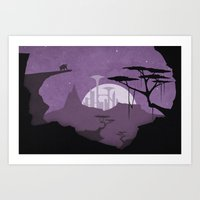Abandoned city Art Print