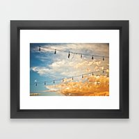 Calm Before The Storm Framed Art Print