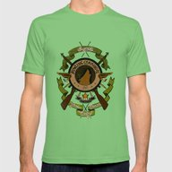 Sgt Bucky Barnes (green) Mens Fitted Tee Grass SMALL