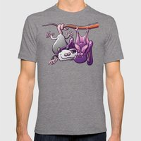 Opossum and Bat in Love Mens Fitted Tee Tri-Grey SMALL