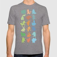 The Starters Mens Fitted Tee Tri-Grey SMALL