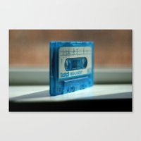 Blue Tape Canvas Print