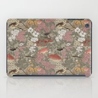 Fishes & Flowers - Seamless pattern iPad Case