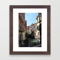 Streets of Water Framed Art Print
