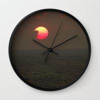 The Sun is Falling Wall Clock