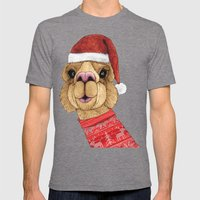 Alpaca Christmas Mens Fitted Tee Tri-Grey SMALL