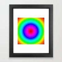 Rainbow Circle Framed Art Print