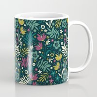 Midnight Florals (pop) Mug