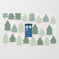TARDIS Lands In The Paci… Rug