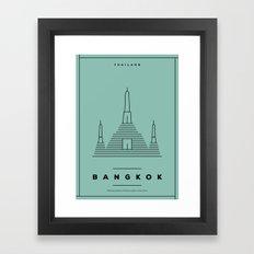 Minimal Bangkok City Poster Framed Art Print