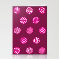 Patterned Dots Stationery Cards