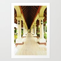 Palace Pathway Art Print