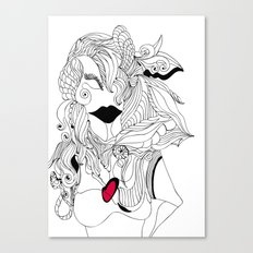 Heart of a Woman Canvas Print