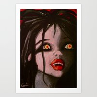 Young Vampire Girl Art Print