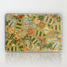 vintage christmas gold Laptop & iPad Skin