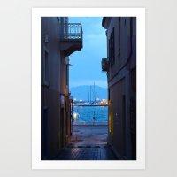 Aegina: Alley View Art Print